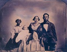 Domestic Slave with Planters Family, Virginia ca 1859-64