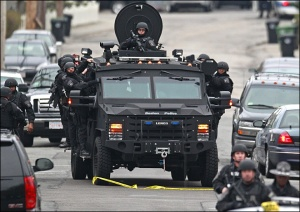 Armored tanks in Boston Source Associated Press