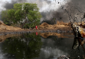 Shell oil pollution Niger Delta Agence France Presse