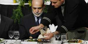 Wall Street elite dinner with Ben Bernanke REUTERS Lucas Jackson