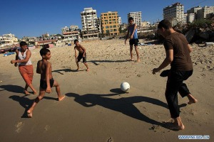 gaza children beach