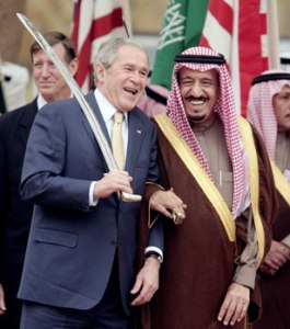 Bush with Saudi Prince Source Getty Images
