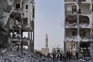 Khuzaa Gaza ruins