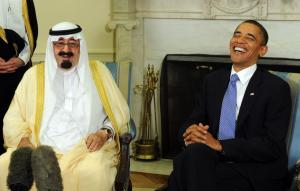 President Obama meets with Saudi King Abdullah
