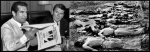 Rios Montt and Ronald Reagan juxtaposed to the Mayan Genocide