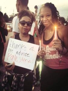 thanks for the advice palestine  Ferguson