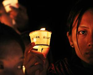Vigil in Bangalore