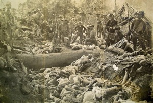 American Moro Crater massacre Muslims Philippines  Photo stock footage