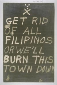 Anti Filipino sign  Source UCLA