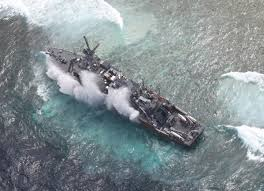 USS Guardian at Tubbataha Reef   photo from AFP Western Command