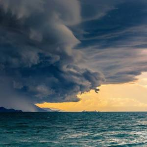Storm Between Green Island and Cairns Photo by Robin Wei