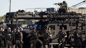 Militarized police forces in Ferguson, Missouri. Source Reuters.