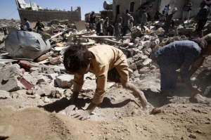 The destruction of Yemen. Photo by Hani Mohammed AP.