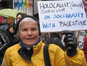 Holocaust survivor in solidarity with Palestine