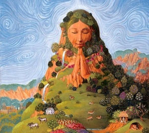Mother Earth. A painting by Jeness Cortez Perlmutter.