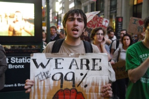 Occupy Movement protestor. Source Gawker.