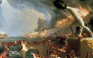 The Fall of Rome, painting by Thomas Cole.