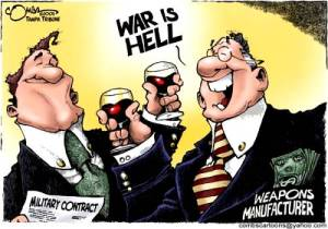 War is Money. Cartoon by Combs.