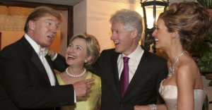 The Trumps and Clintons show the face of oligarchy. Photo from New York Times.