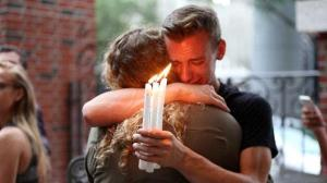 Grief following the massacre at Pulse dance club in Orlando Florida. Source AP