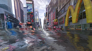 World under water. Image from Adweek.