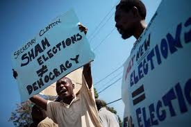 protests-against-clinton-in-haiti-photo-source-nyt